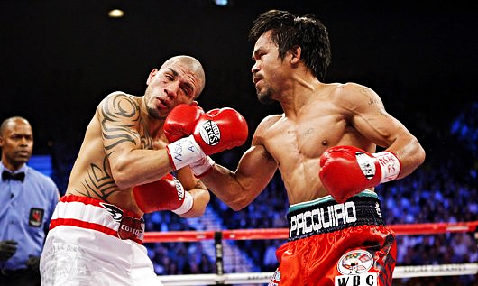 PACQUIAO BEATING UP COTTO